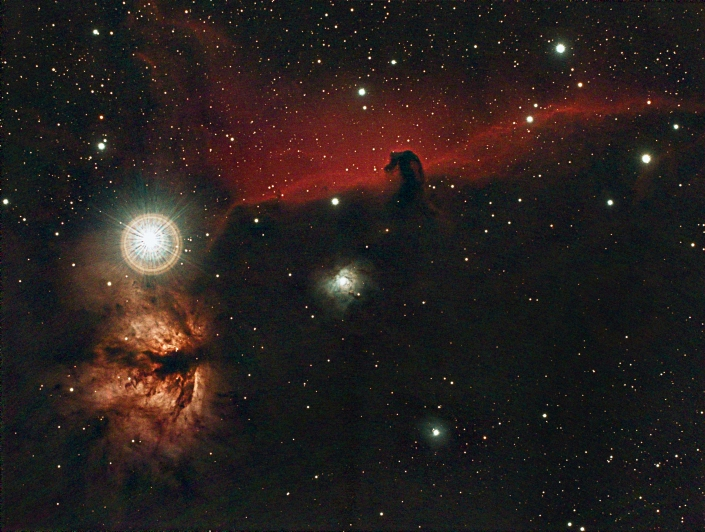 Horsehead nebula - distance 1500 light years in Orion