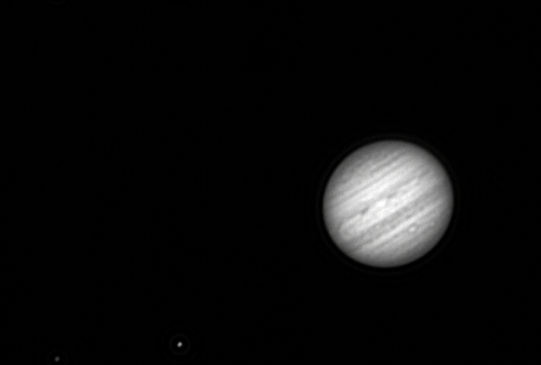 Jupiter with its moons Io and Callisto