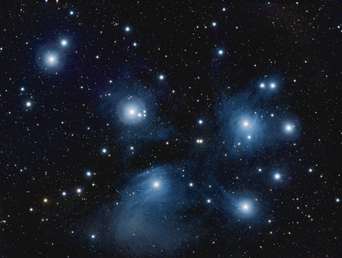 Messier 45 - Pleiades - distance 400 light years