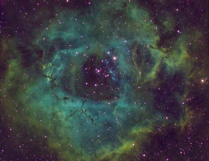 Rosette Nebula - distance 5,200 light years