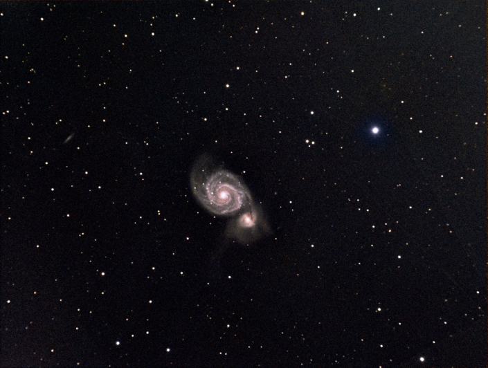 messier 51, Whirlpool Galaxy: distance  23 million light years