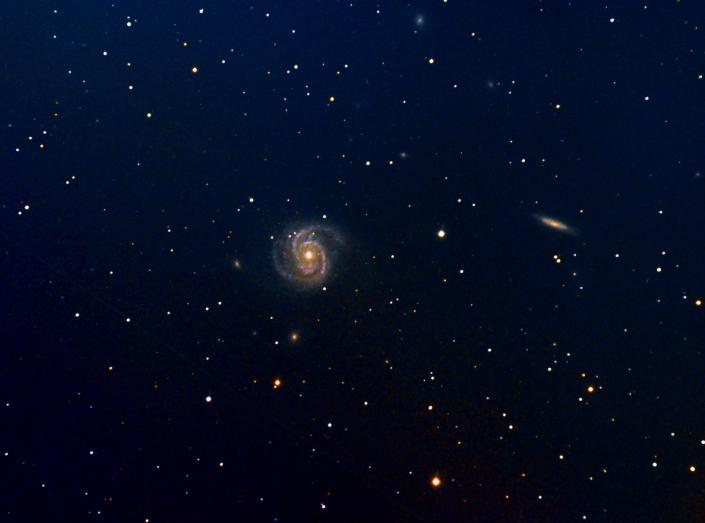 M100 Spiral Galaxy – distance: 55 million light years