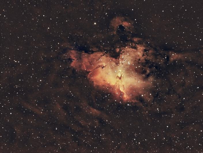 M16 Eagle Nebula - distance 7,000 light years