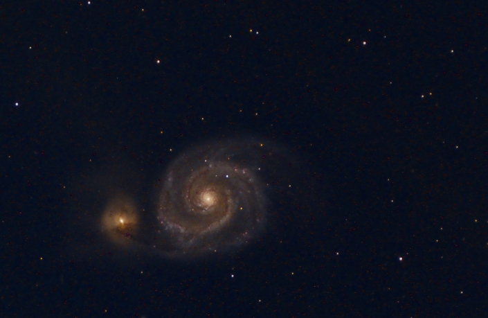 M51 Whirlpool galaxy – distance 23 million light years