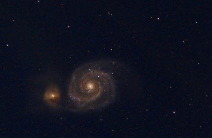M51 Whirlpool galaxy – distance 23 million light years