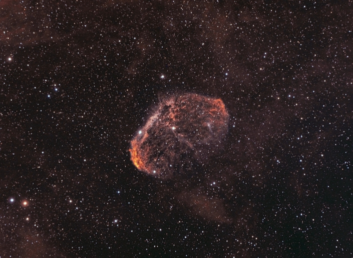 NGC 6888, Crescent Nebula - distance 5,000 light years