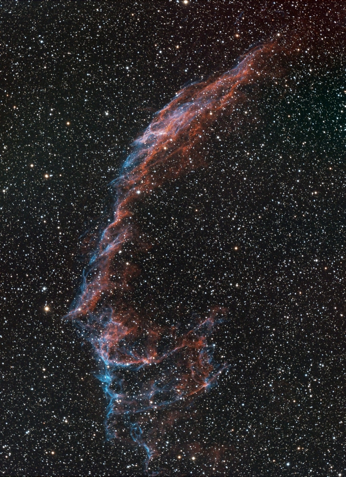 Eastern Veil Nebula - distance 1,470 light years