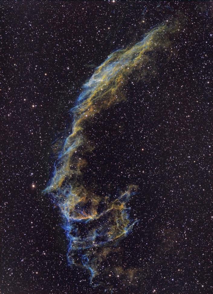 Eastern Veil Nebula - distance 1,470 light years