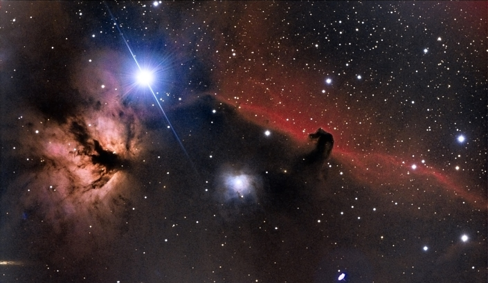 Horsehead nebula - distance 1,500 light years